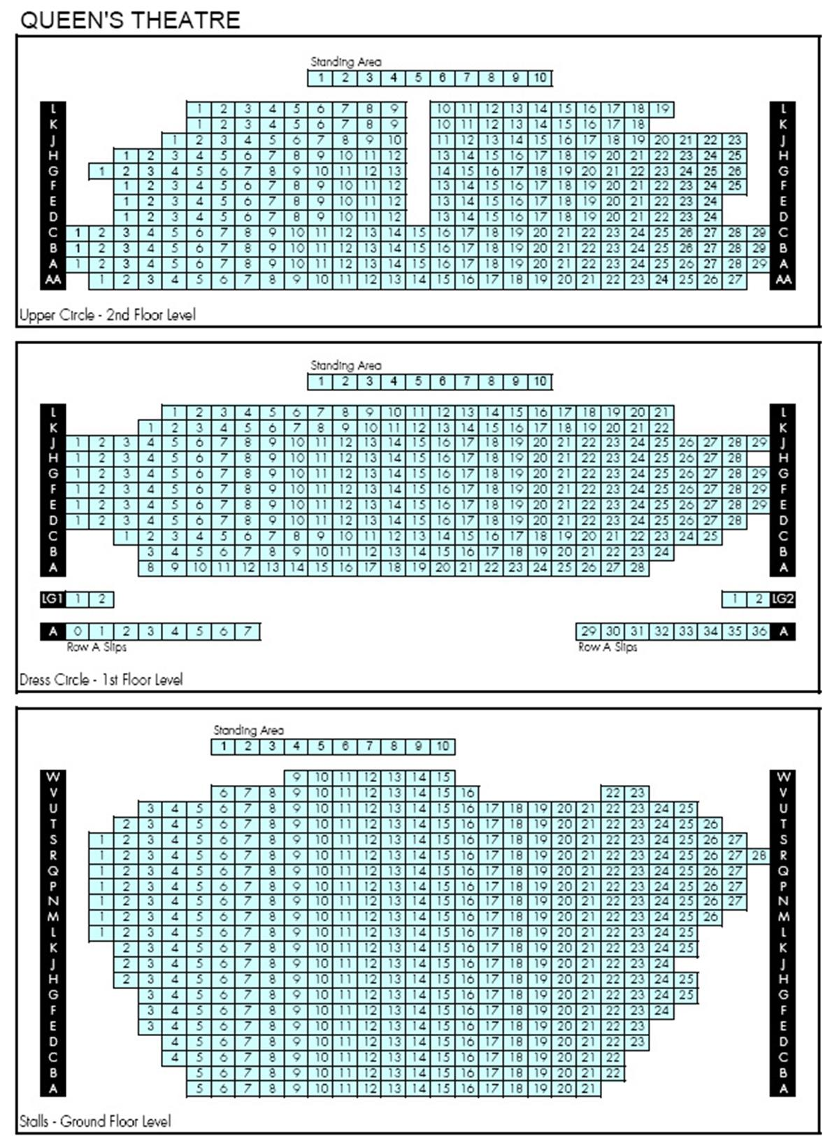 Les Mis Seating Chart Sydney State Theatre Seating Chart