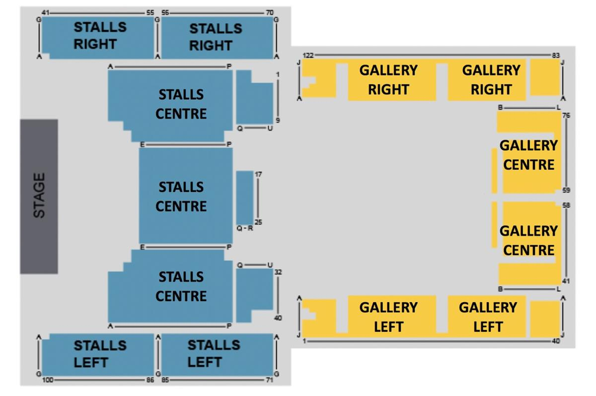 Central Hall Westminster Seat Plan for Sister Act Live Choir