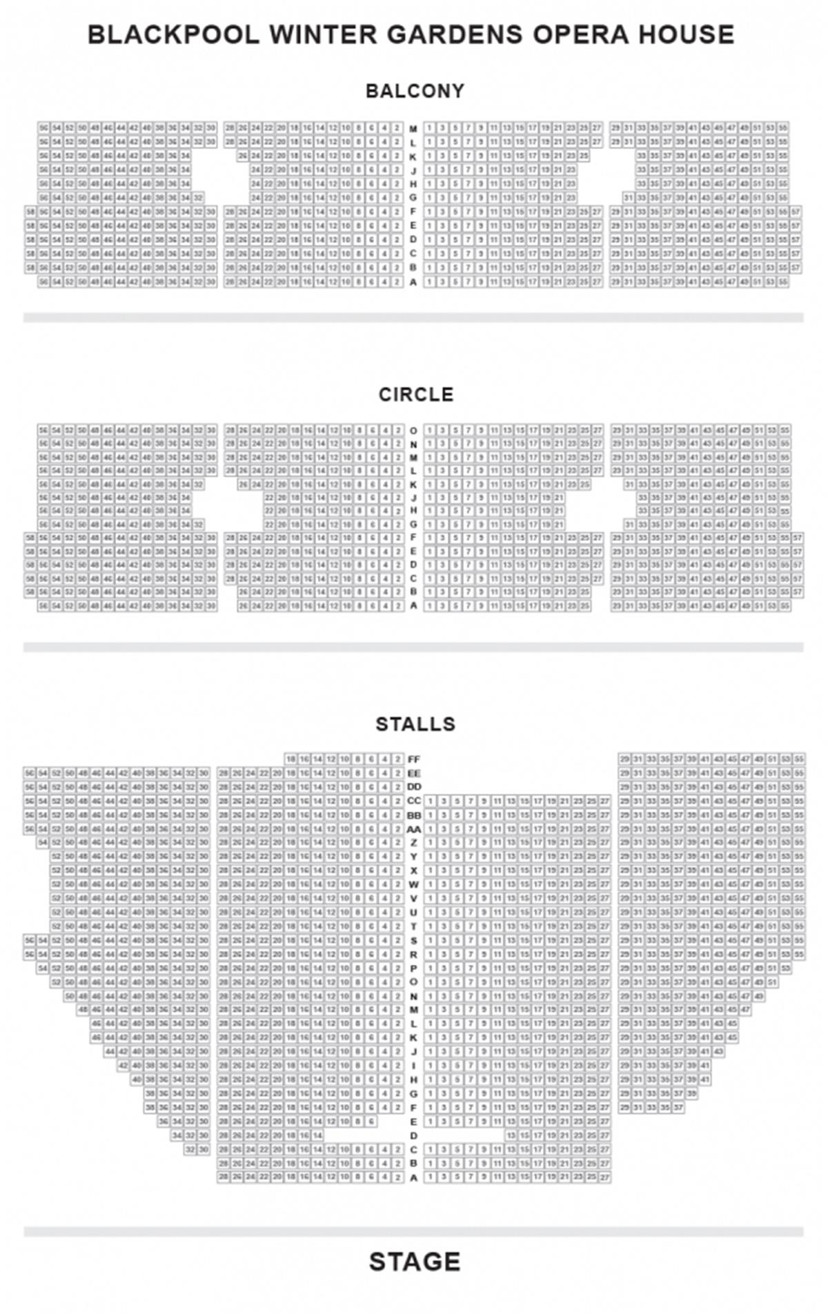 Blackpool Opera House Seating Plan Numberedtype