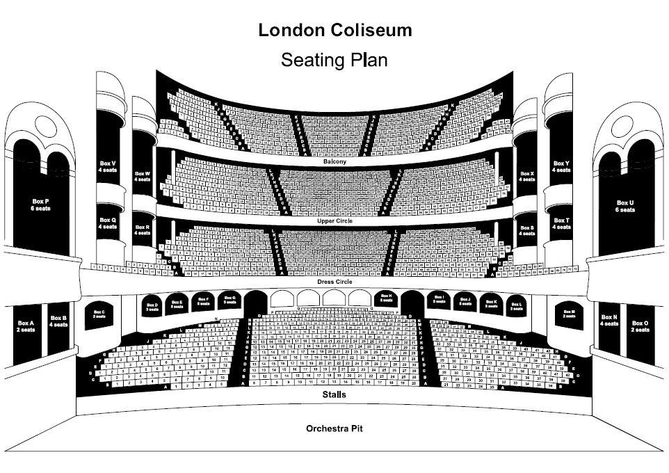 London Coliseum Seat Plan for Bat Out of Hell The Musical