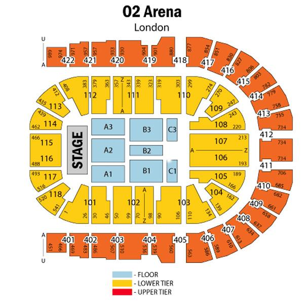 o2 seat plan for strictly come dancing at o2 arena