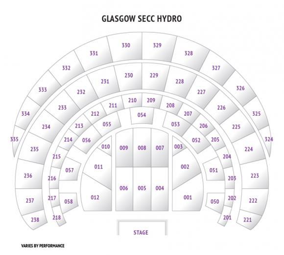 Secc The Hydro Exhibition Way Glasgow G3 8yw